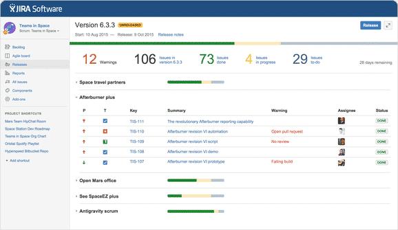 JIRA Software screenshot