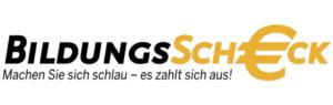 Das Logo von Bildungsscheck.