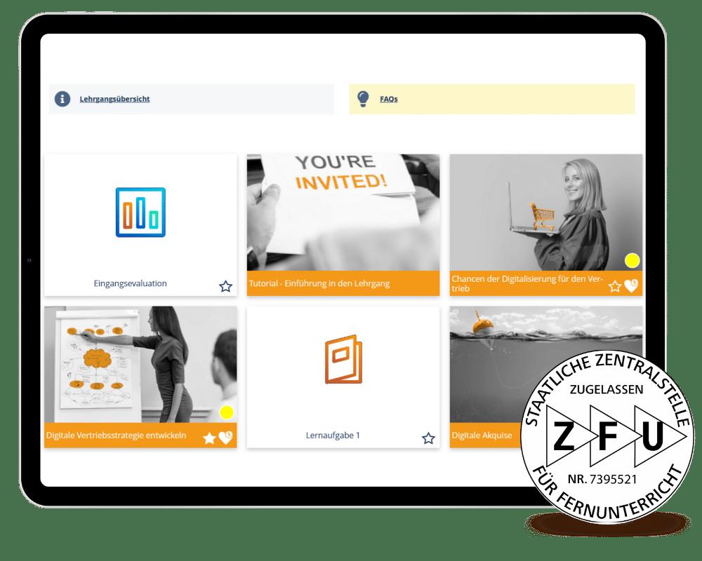 Lernumgebung Digital Sales Manager ZFU zertifiziert